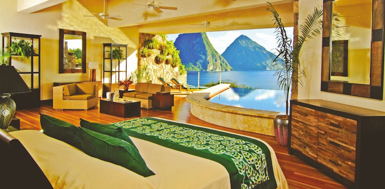 jade mountain, star infinity room