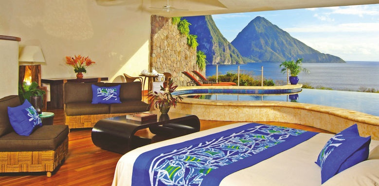 jade mountain, moon infinity suite