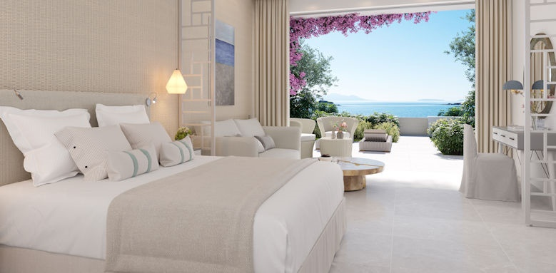 ikos aria, junior suite private garden