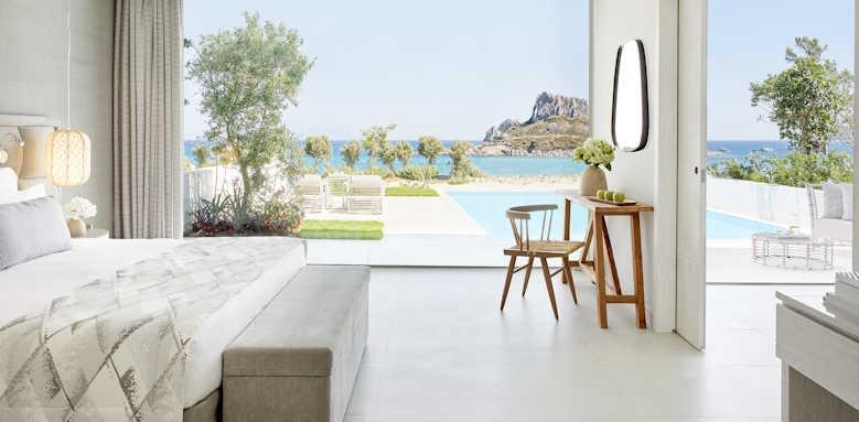 ikos aria, deluxe bungalow suite private pool