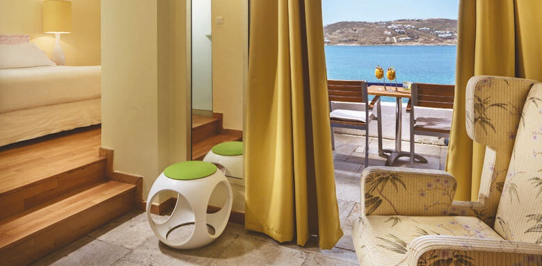 Mykonos Theoxenia, deluxe sea view front room