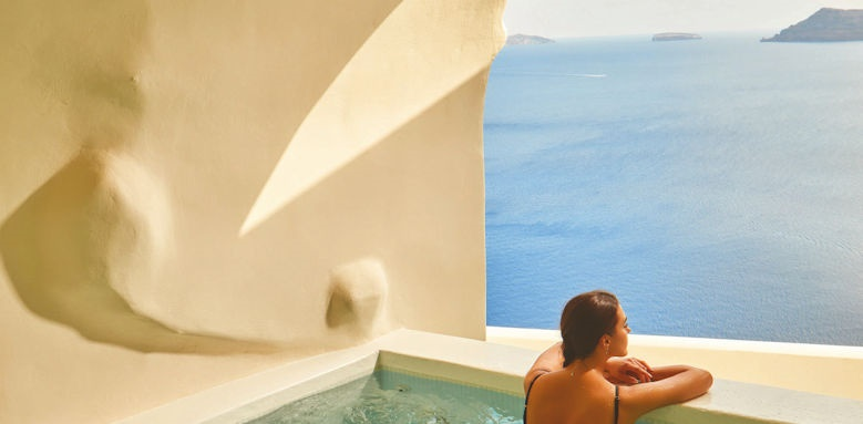 Canaves Oia Suites, cave pool