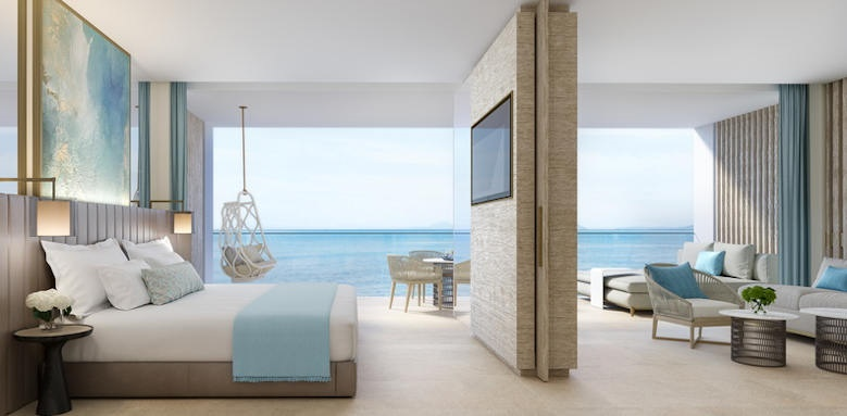 Ikos Andalusia, one bedroom with private garden