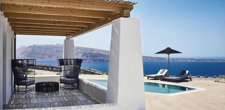 Santo Maris Oia Luxury Suites and Spa, Ilios luxury sunset villa