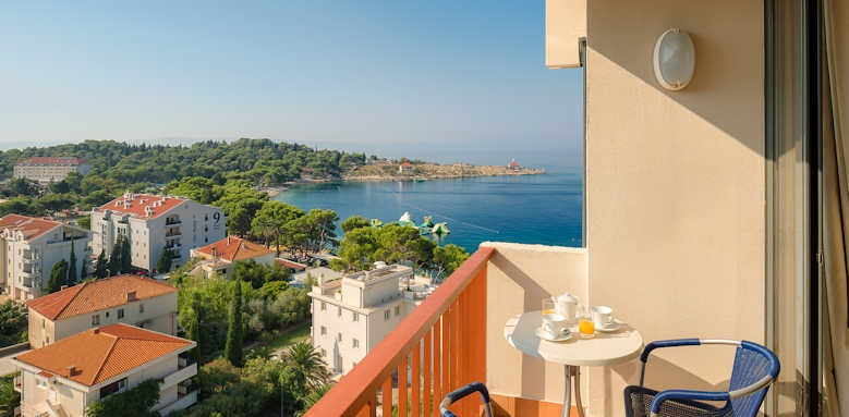 Valamar Meteor, Superior balcony or terrace with sea view