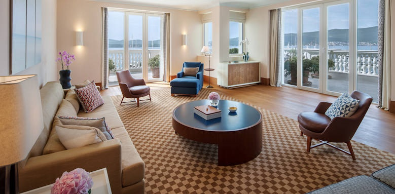 Regent Porto Montenegro, three bedroom penthouse suite