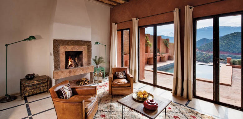 Kasbah Bab Ourika, pool suite with panoramic views
