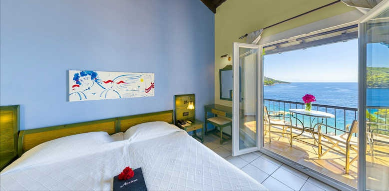 Adrina Beach Hotel, double room with full sea view