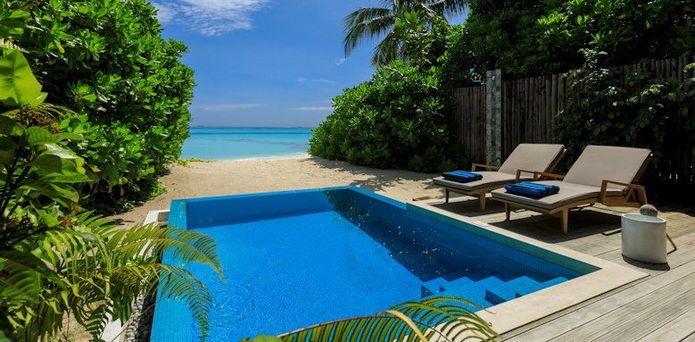 Velassaru Maldives, beach villa with pool