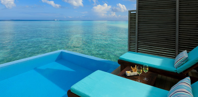 Velassaru Maldives, water bungalow with pool