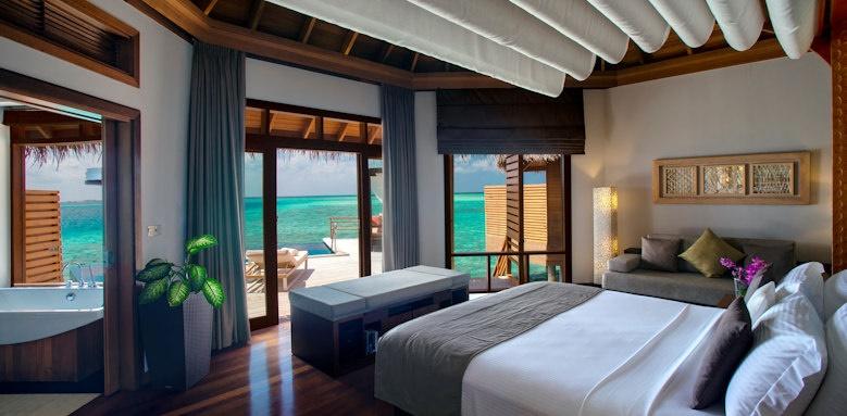 Baros Maldives, water pool villa