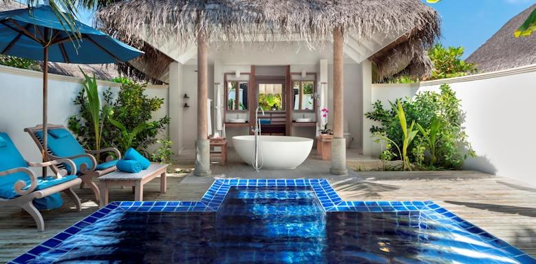 Anantara Dhigu Maldives Resort, sunset pool villa