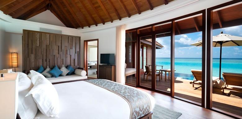 Anantara Dhigu Maldives Resort, sunrise over water suite