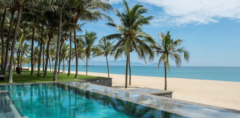 Four Seasons Resort the Nam Hai, three bedroom beachfront pool villa