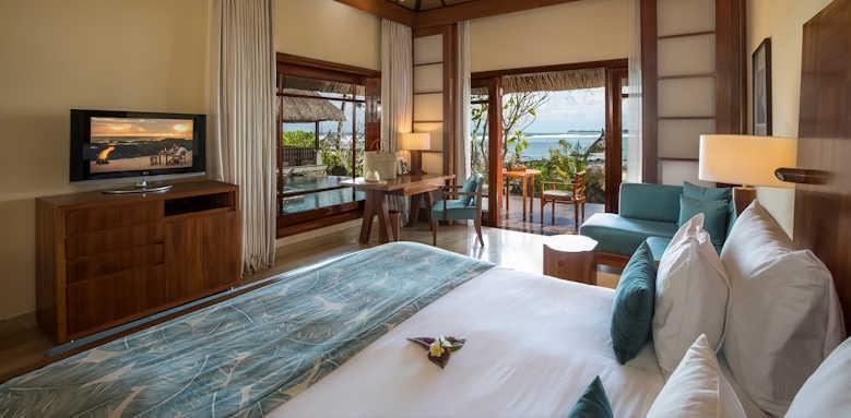 Shanti Maurice, beachfront suite pool villa
