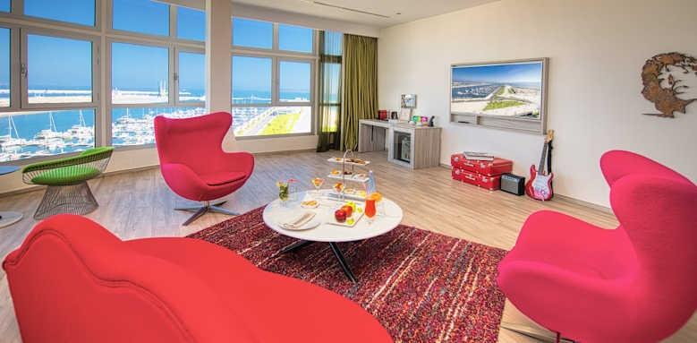 Marina Bay Tangier, double room with sea marina view
