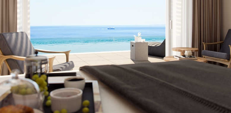 Marbella Elix Hotel, Superior room with sea view and swim up pool