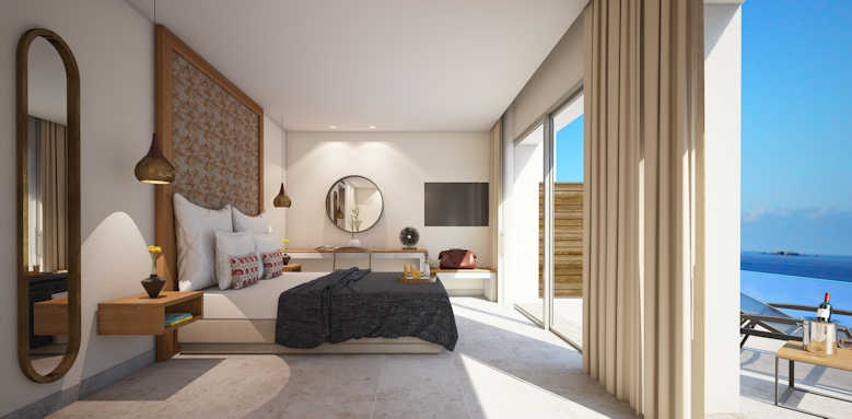 Marbella Elix Hotel, junior suite panorama with private pool
