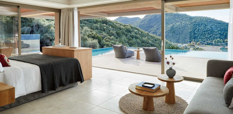 Marbella Elix Hotel, deluxe suite with private pool