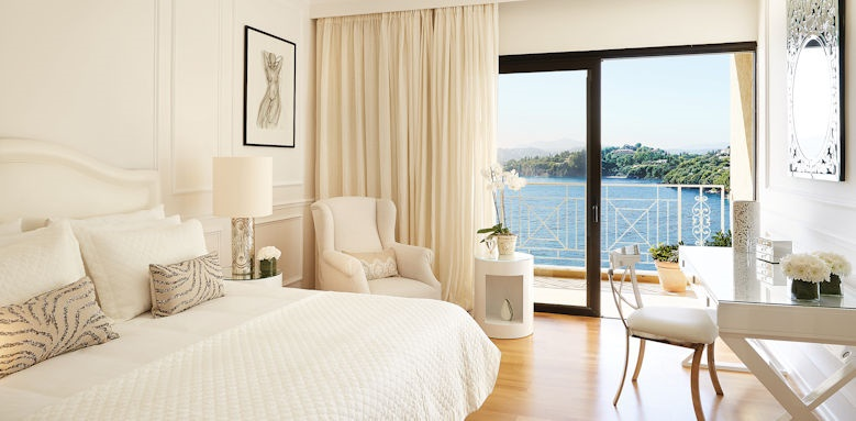 Grecotel Imperial Corfu, deluxe guestroom sea view