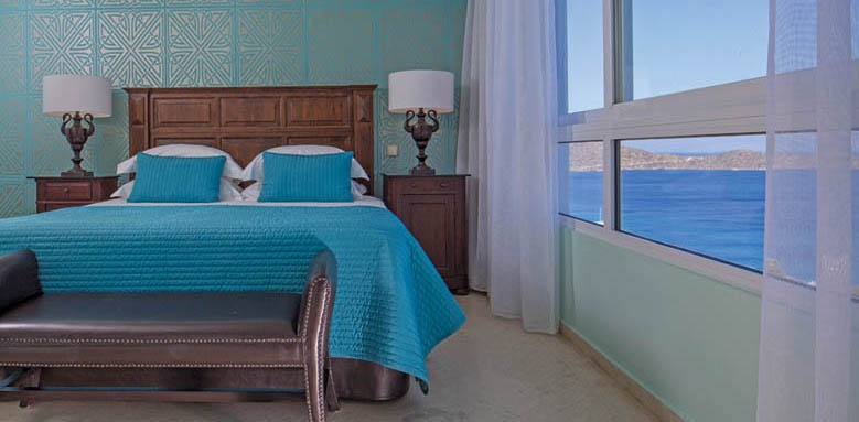 Elounda Gulf Villas & Suites, Mediterranean pool villa bedroom