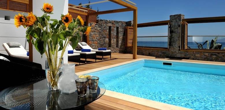 creta maris, pool villa