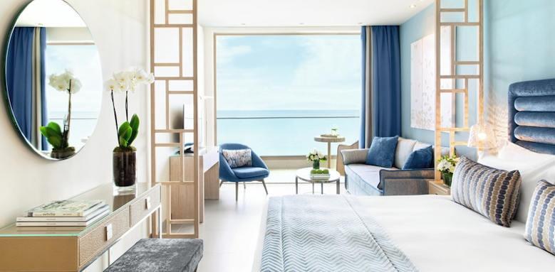 ikos oceania, deluxe junior suite sea view