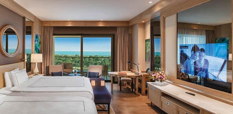 Regnum Carya Golf & Spa Resort, luxury room sea view