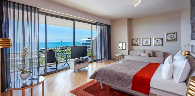 maxx royal belek, suite sea view