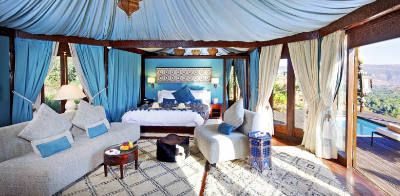 Kasbah Tamadot, Berber tented suite with jacuzzi