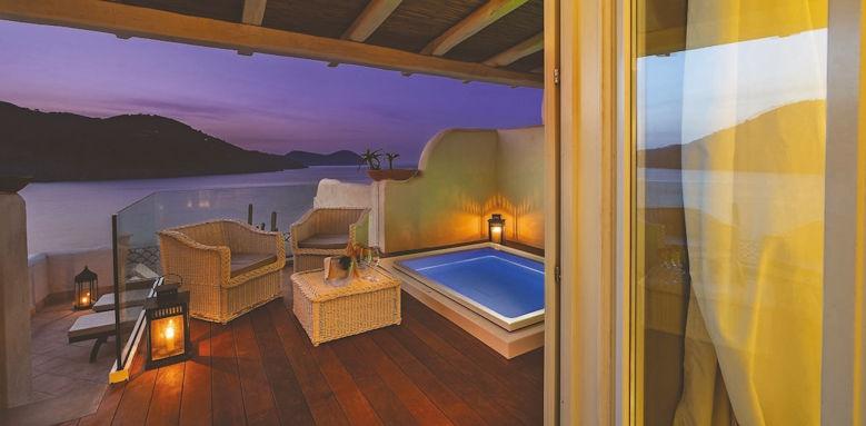 therasia resort, master pool room