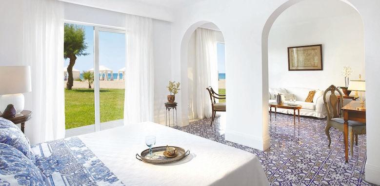 Grecotel Caramel Boutique Resort, 2 bedroom beach villa seafront view