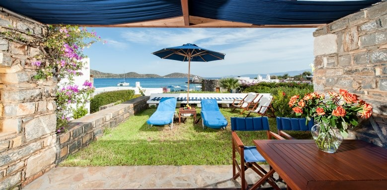 Elounda Beach, classic bungalow sea view
