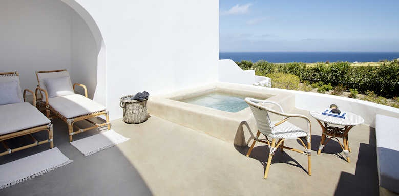 Santo Maris Luxury Suites and Spa, junior suite sea