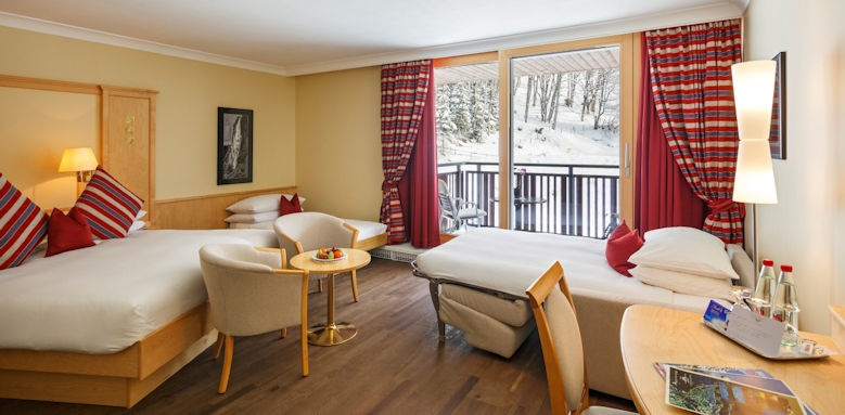 beausite park hotel wengen, family forest view