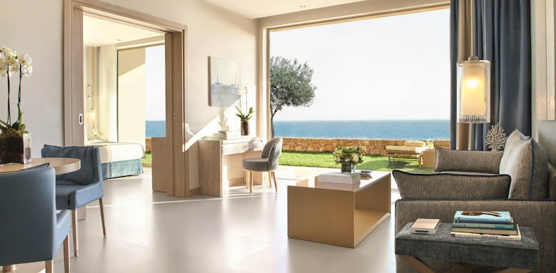 ikos oceania, deluxe two bedroom suite private garden