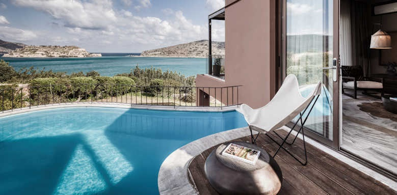Domes of Elounda, family suite pool sea view