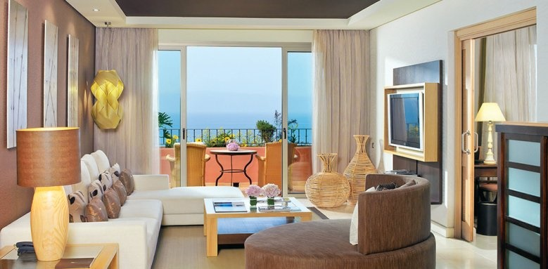The Ritz-Carlton Abama, one bedroom suite living room