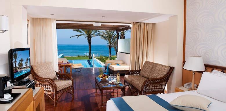 Constantinou Bros Athena Beach Hotel, junior suite private pool