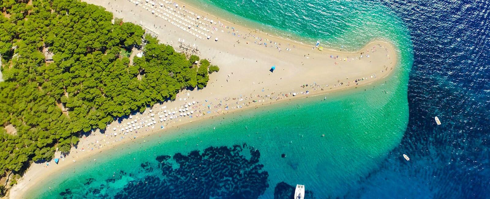 zlatni rat, brac island beach
