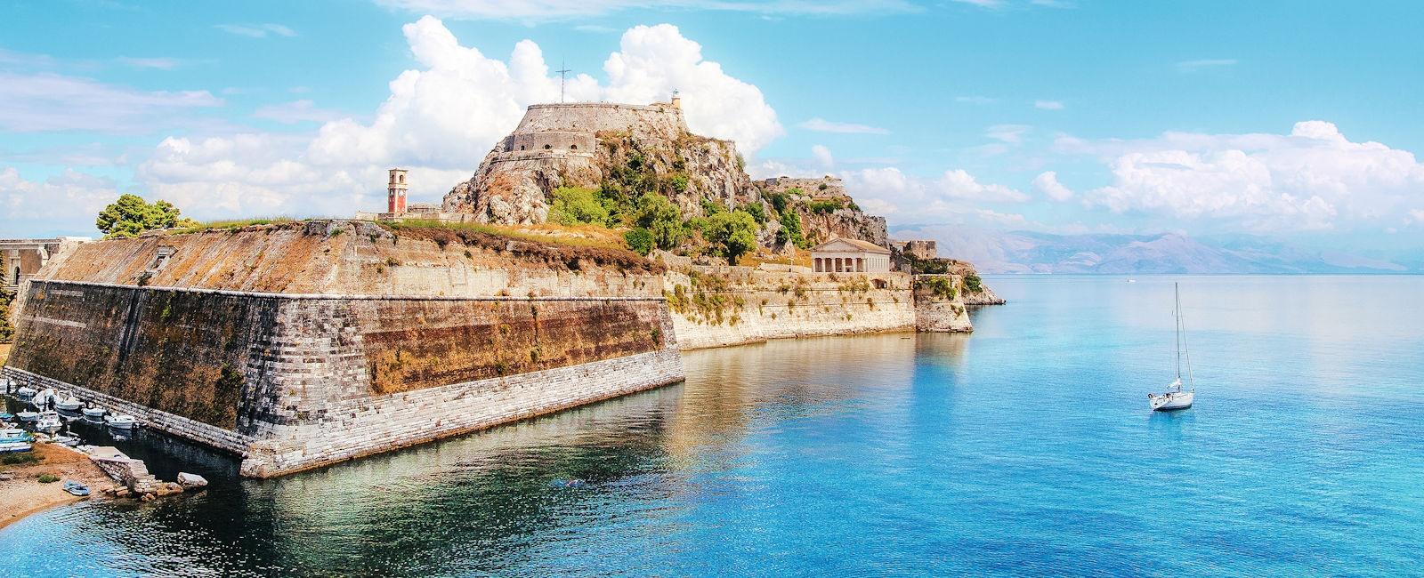 luxury corfu town holidays