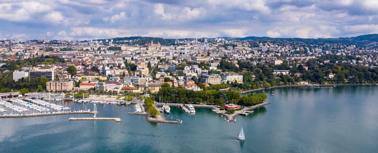 Lausanne, aerial view