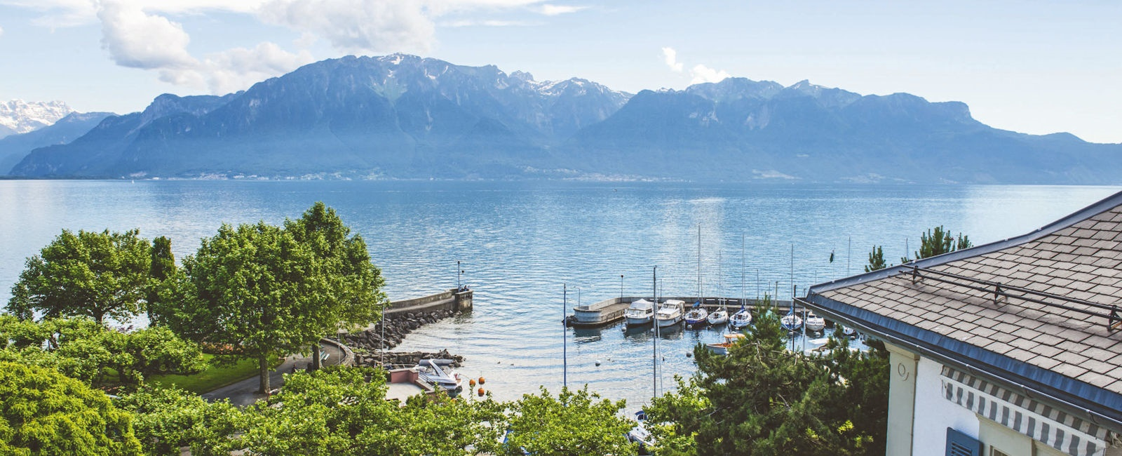 Vevey, view over lake