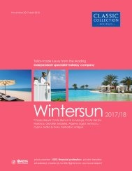 Wintersun 2018/19 holiday brochure